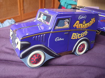CADBURY'S CHOCOLATE ANIMAL BITES TIN CADBURY Delivery Van Truck