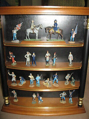 Franklin Mint 1986 Civil War 23 Hand Painted Soldiers W/ Display Case!