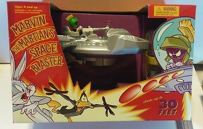 RARE Marvin the Martin SPACE BLASTER Disc Shooter NRFB Excellent Condition