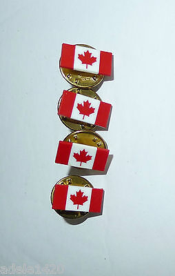 LOT OF 4 CANADA FLAG PINS   -  new