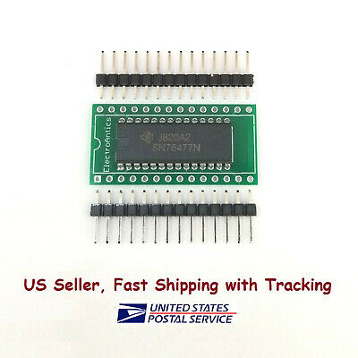 SN76477 Complex Sound Generator IC with Breakout PC Board and 14 pin headers