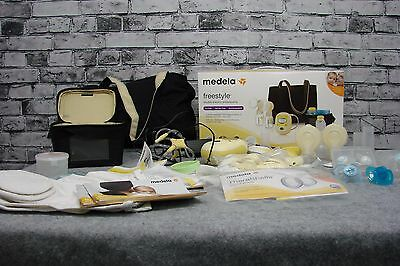 Medela Freestyle Pump Breast Electric Double Breastpump Set Deluxe Free Hand