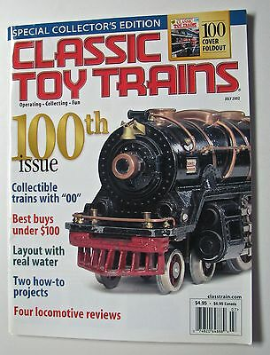 Classic Toy Trains - 100th Issue - Exc. condition - Model Railroad - July 2002