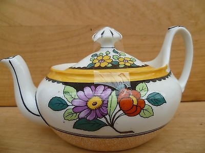 Vintage Old Flower Design Tea-Pot Old Kitchen Teapot, (D74)