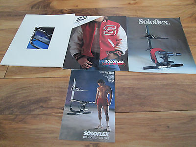 Lot 4 Vintage Collectible Soloflex Booklets Very Good Condition