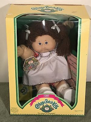 1985 Cabbage Patch Kid - Coleco - Emelda Shena - Blue Eyes Dimple Tooth NIB
