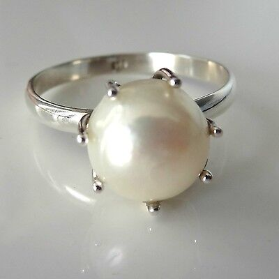 92.5 SOLID STERLING SILVER ORIGINAL SEA PEARL RING SIZE US 4 to 13
