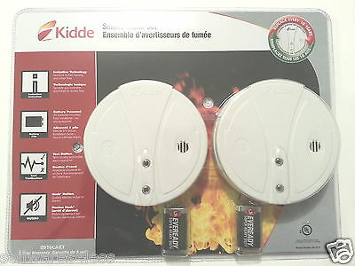 Lot of 10 NEW KIDDE Smoke Alarms 0916CAKT Battery operated