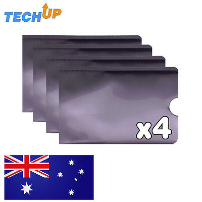 x4 travel RFID Blocking sleeve wallet RFID protection for Credit cards