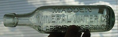 Madden Mineral Water Clarendon Springs Derry British UK Torpedo Bottle