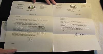 Lot of 2 State of Pennsylvania Political Letters State Senator Noah W. Wenger