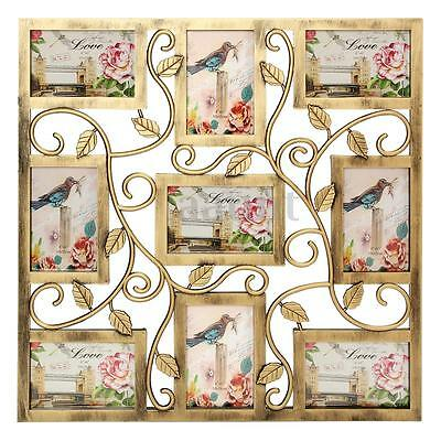 Collage Photo Plastic Floral Vine Wall Hanging Frames Picture Display Decor Gift
