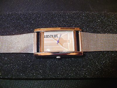 Absolut Vodka Watch Stainless Absolute Advertisement