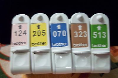 brother applique e-100 thread cartridges 5 PACK AS PICTURED COLORS, NEW