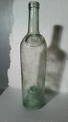 Very Rare MARIA BRIZARD & ROGER Bottle With Glass Seal 1880's BORDEAUX France