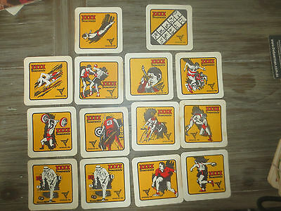 complete set of 13 & 1CASTLEMAINE XXXX 1982,Commonwealth  GAMES COASTERS