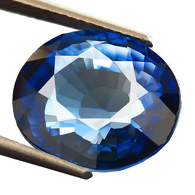 13.90ct Lab-Created AAA+ TOP ROYAL BLUE SAPPHIRE OVAL HAND CUT 12.5 x 14.7 MM