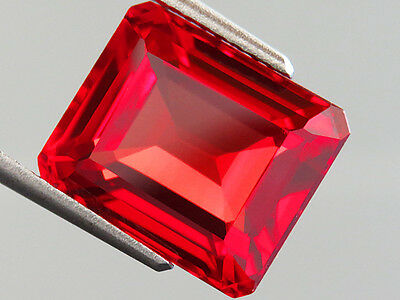 10.10ct Lab Created AAA+ PADPARADSCHA ORANGE SAPPHIRE OCTAGON CUT 10.5 x12.5 MM