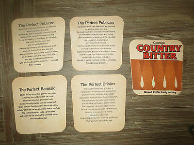 complete set of 3 &1 COURAGE BREWERIES 1973 Australian Issue COASTERS