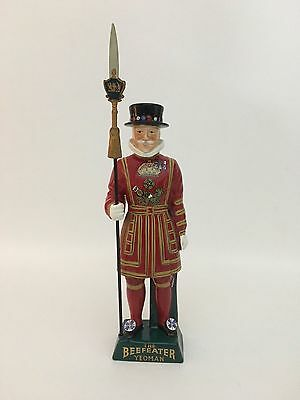 "Beefeater Gin Yeoman Warder 20""  Handpainted Decanter James Borroughs Ltd."
