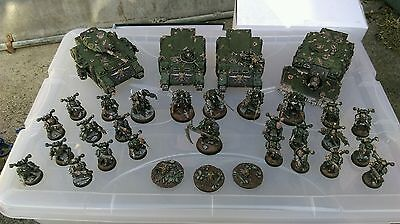Warhammer 40k Chaos Space Marines Nurgle Death Guard Fully Painted Army