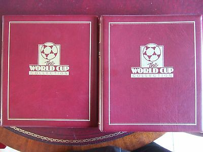 PAIR 1998 WORLD CUP WESTMINSTER COLLECTION STAMP ALBUMS 47 x M/S 27 x SETS ETC