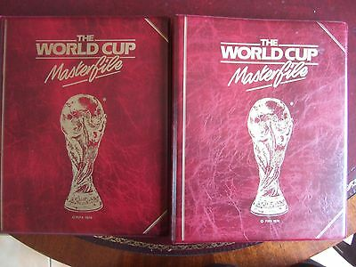Pair Of 1986 World Cup Masterfile Albums With Sets 50+ Covers & Match Postcards
