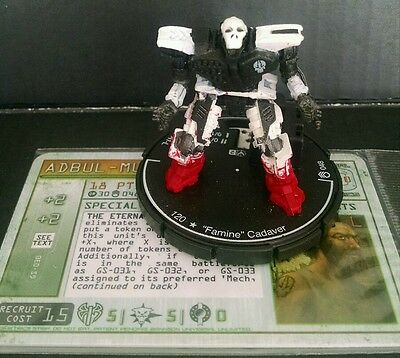 Mechwarrior UNDEAD LANCE Famine Cadaver with Pilot Card NEW