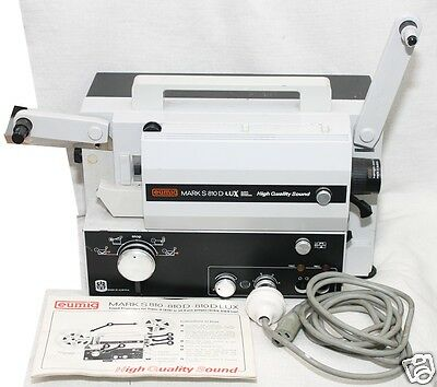 """Emuig Sound S800D Super 8mm projector. I only sell"""" The BEST"""" with book,as NEW"""