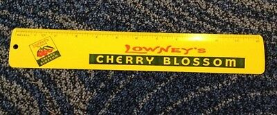 """Lowney's cherry chocolate blossom advertising 12"""" ruler  1960s Made in USA"""