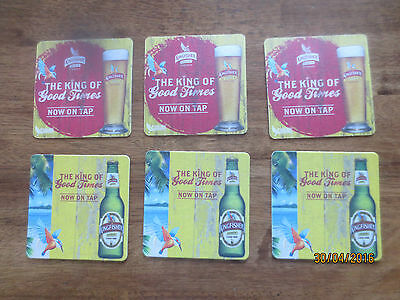 6 ,KINGFISHER Beer,Australian Issue ,Beer Coasters collectable