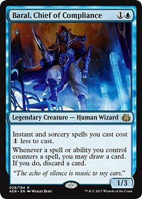 MTG Magic - (R) Aether Revolt - Baral, Chief of Compliance - NM/M
