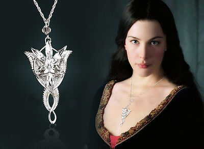 Fashion Silver Lord of Rings Arwen Elegant Necklace Crystal Jewelry Wedding New