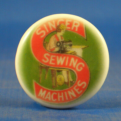 1 inch China Collectable Sewing Button -- Singer Sewing Vintage Logo