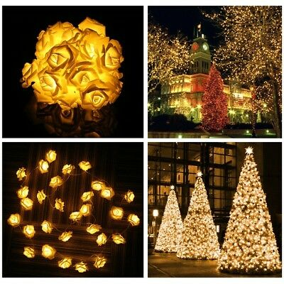 Electric/Flower/Battery 2-100M String Fairy Light Lamp Christmas Wedding Party