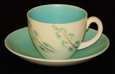 Poole Pottery Coffee Duo, Featherdrift Pattern, Twintone, Excellent Condition