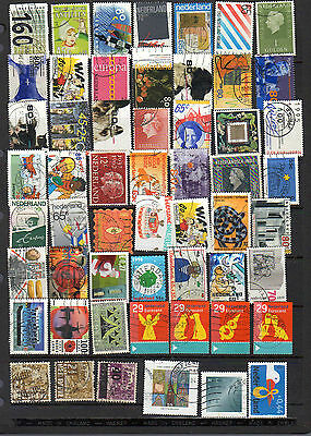 55 all different used stamps from the Netherlands
