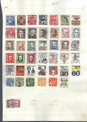 2 pages of small stamps from Czechoslovakia - see scans