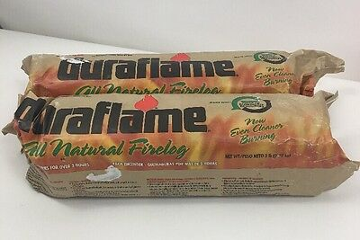 2x Duraflame 5 lb. Firelog Lights Quickly Burns 80% cleaner than wood B33