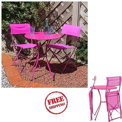 Portable Garden Bistro Set Table Folding Chairs Sets Outdoor Patio Small Space