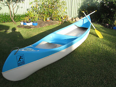 Two Person, 14 foot, fibreglass Canadian canoe