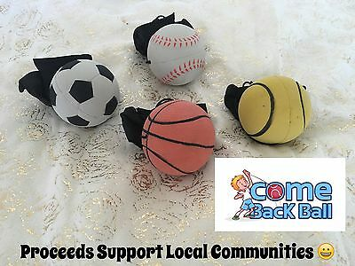 4 X Come back Ball - Sponge rubber Ball With String - Return Ball