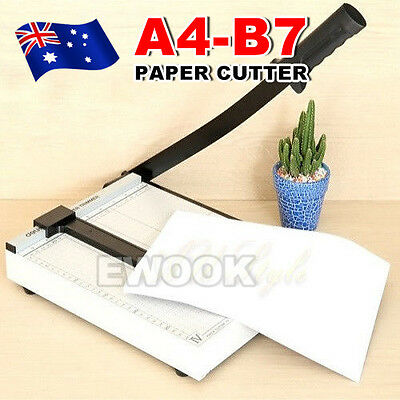 Premium Metal Paper Photo Cutter Size A4 To B7 Guillotine Page Trimmer 12 Sheets