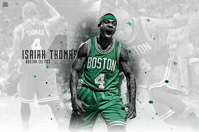 "065 Isaiah Thomas - BOSTON CELTICS Basketball NBA Star 21""x14"" Poster"