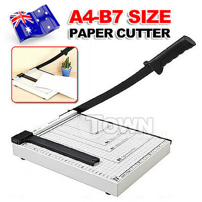 Premium Paper Cutter Guillotine Trimmer Knife Metal BN A4 to B7 Size 12 Sheets
