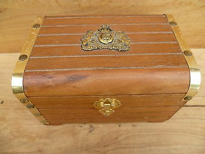 Vintage Old Large Size '2-Piece' Timber Jewellery Box, Old Box & Insert (D59)