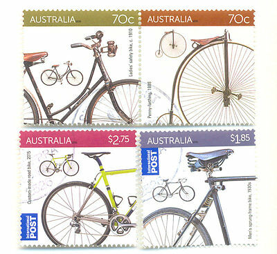 Australia-Bicycles-Cycling fine used-cto set 2015 October