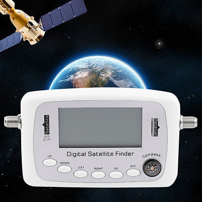 GSF-500 Digital Screen Display Satellite Signal Finder Signal Receiver White OE