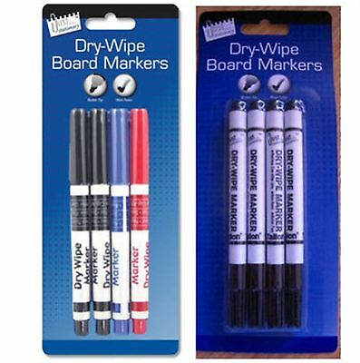 Dry Wipe Markers White Board Markers Marker Pens Non Toxic Bullet Tip x 4