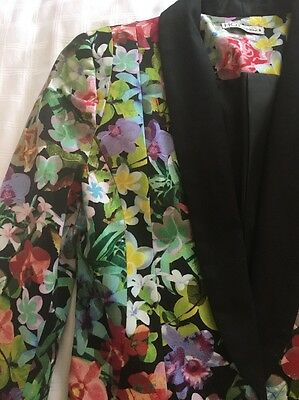 Ladies Floral Suit Jacket & Pants (new Without Tags) Size 8
